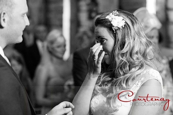 bride emotional and cries during vows