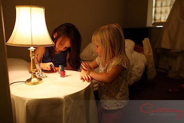 toddler bridesmaids paint nails