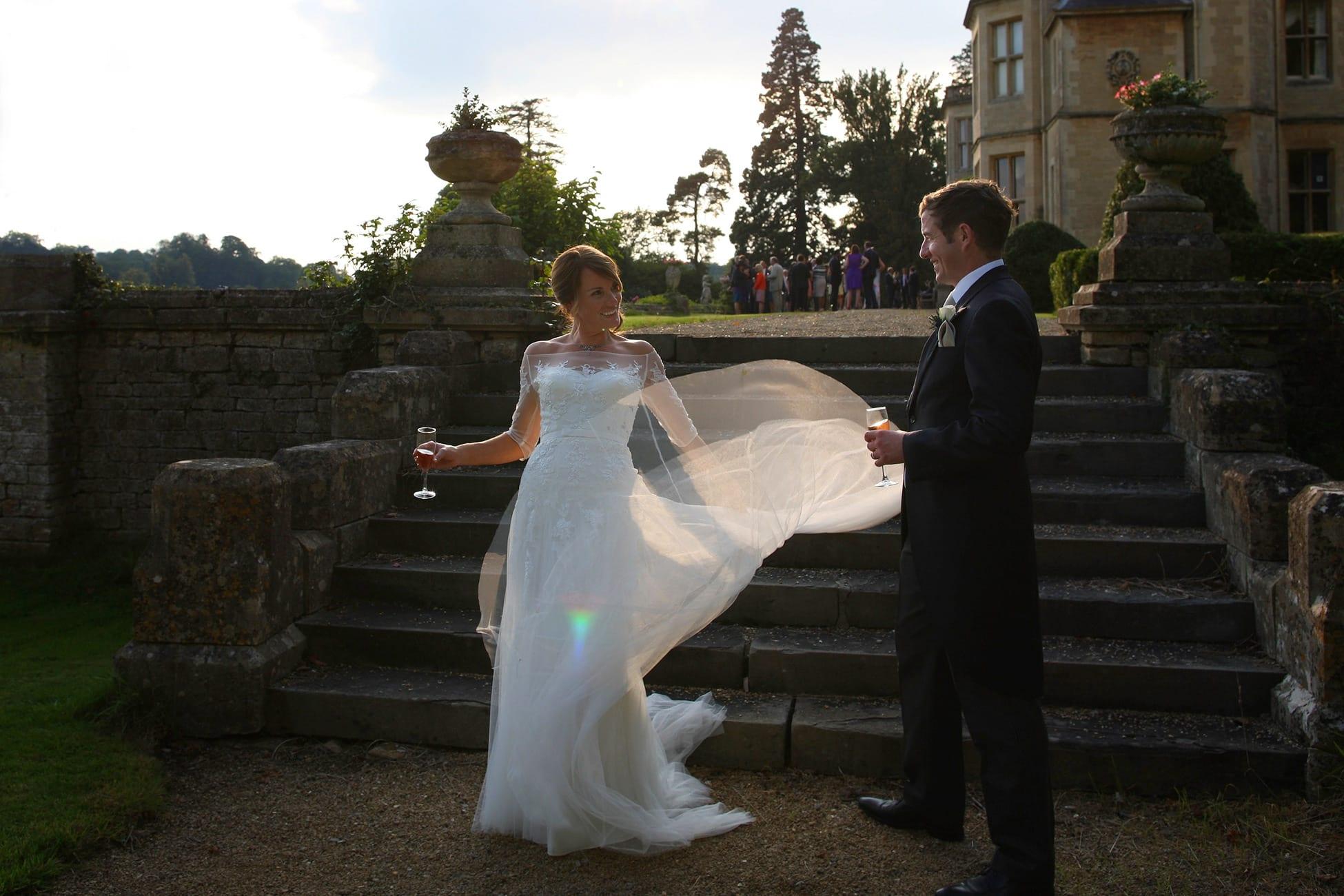 bride-flips-sunlit-wedding-dress