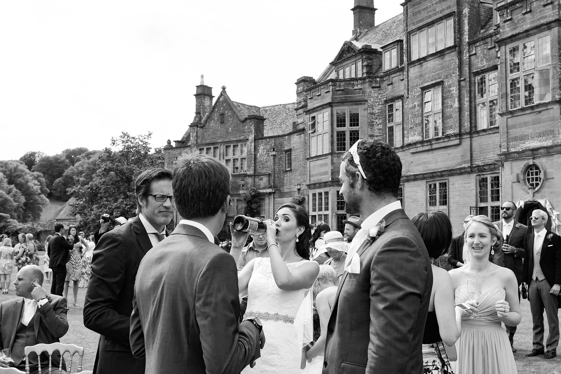 bride-swigging-champagne