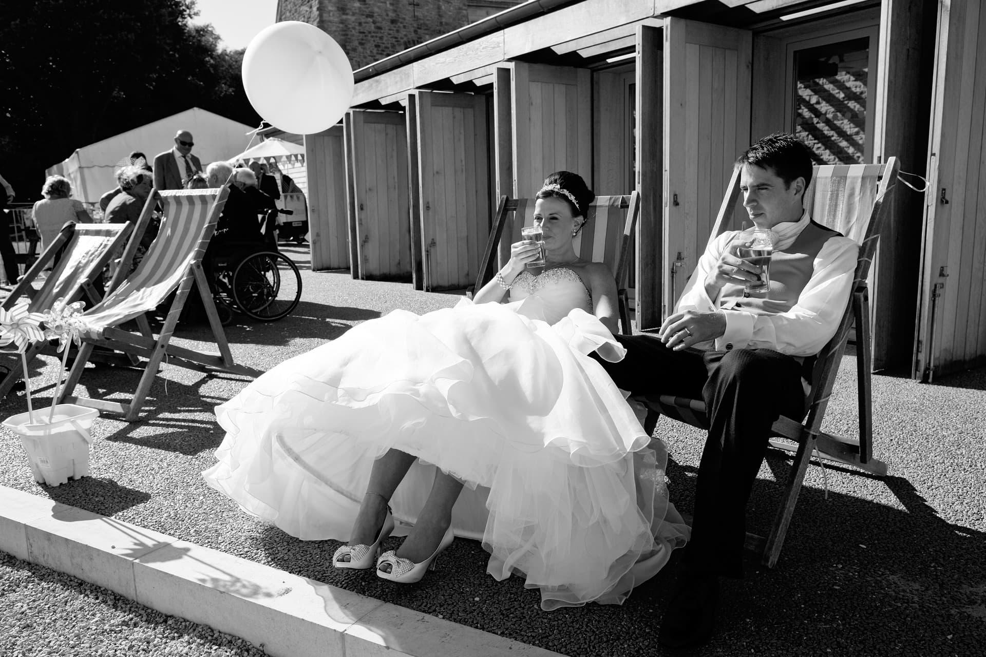 Dorset-weddings-beach-deckchairs