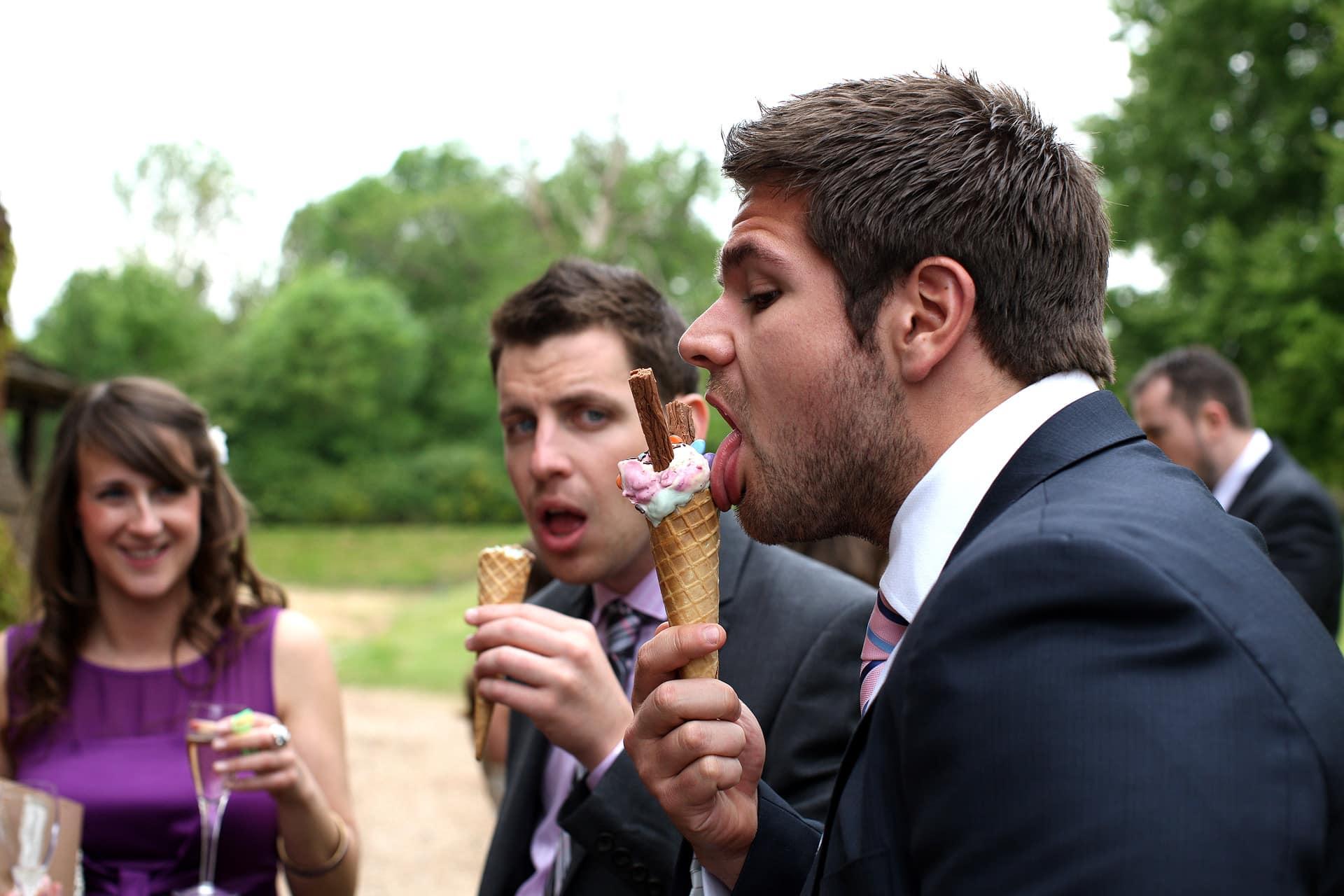 wedding-ice-cream-fun-silly-funny