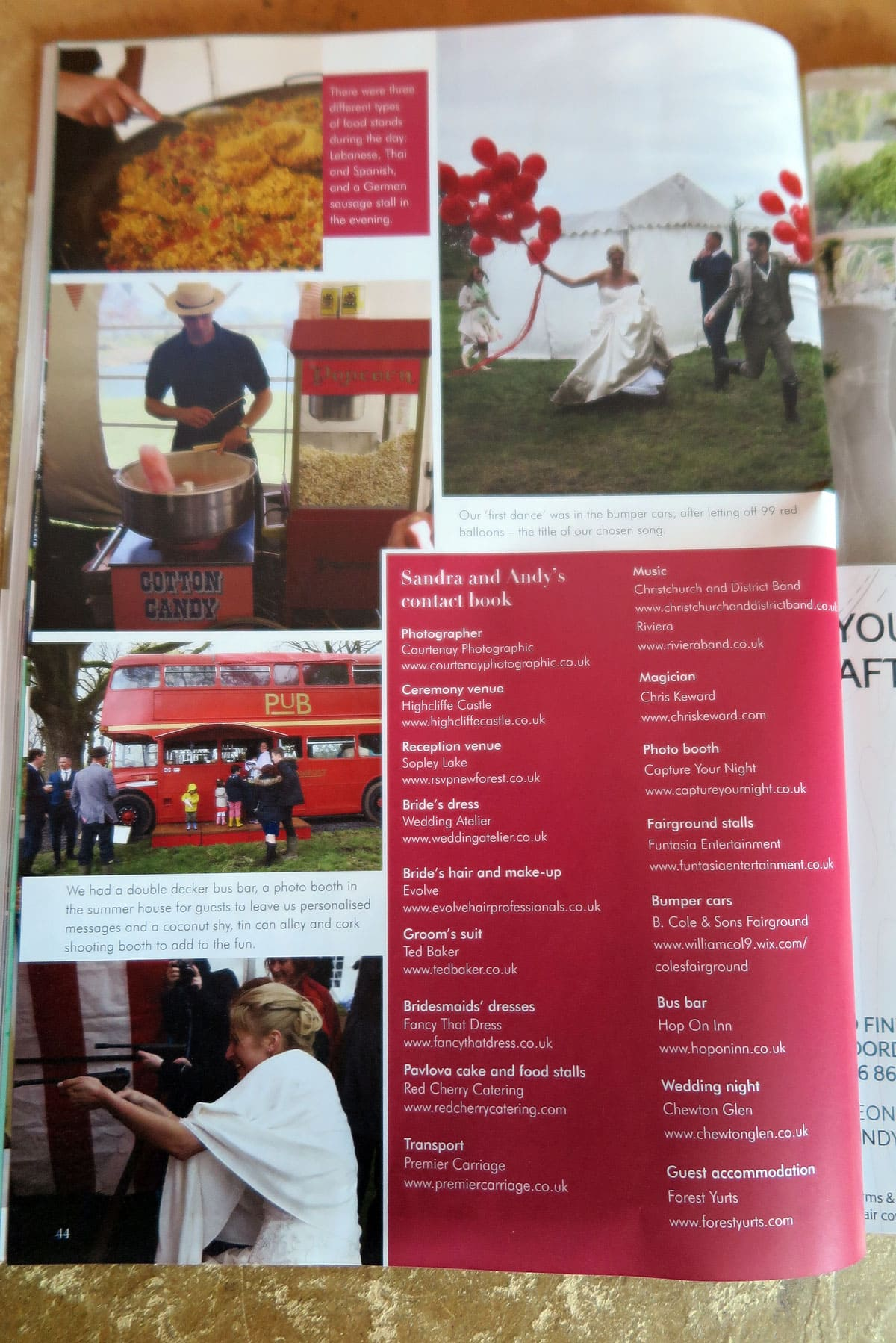 real wedding feature in dorset wedding magazine