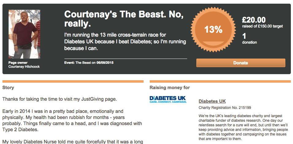 Courtenay-diabetes-raise-money