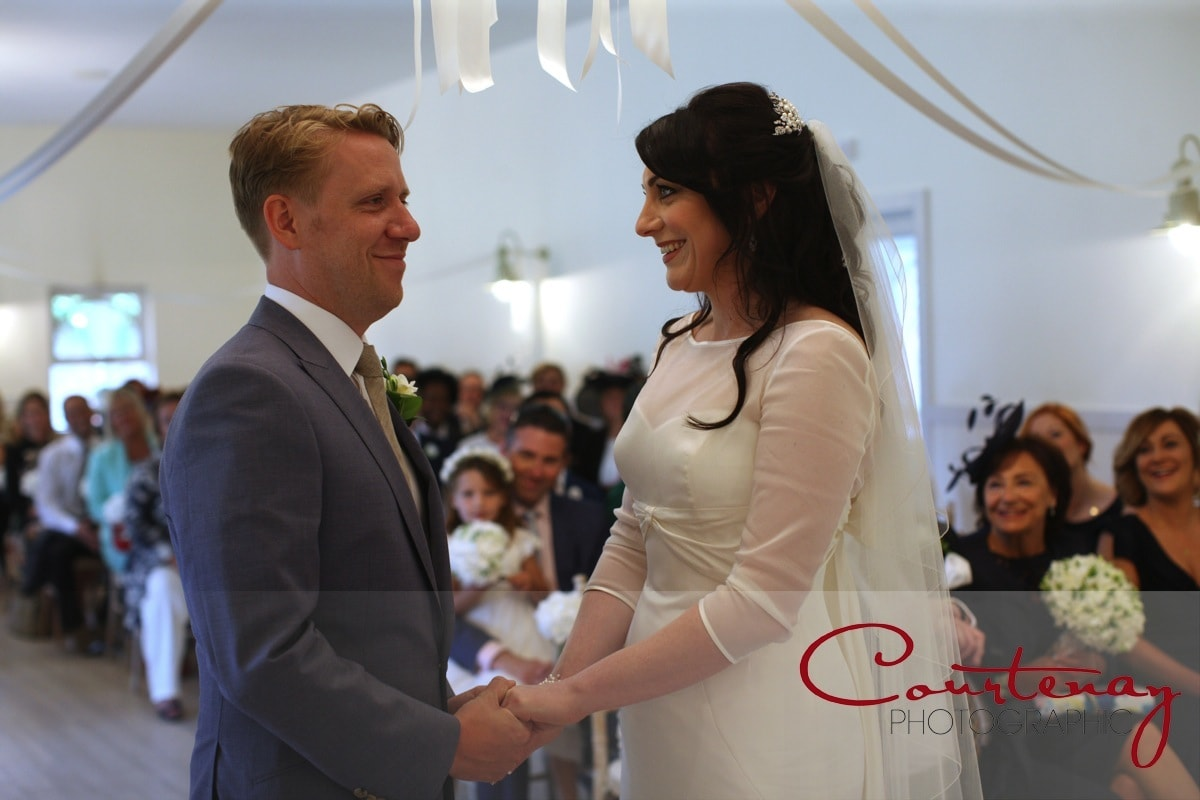 bride and groom are married