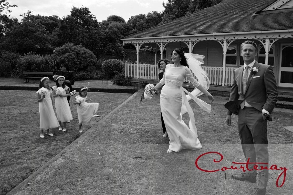 wind blows the brides veil