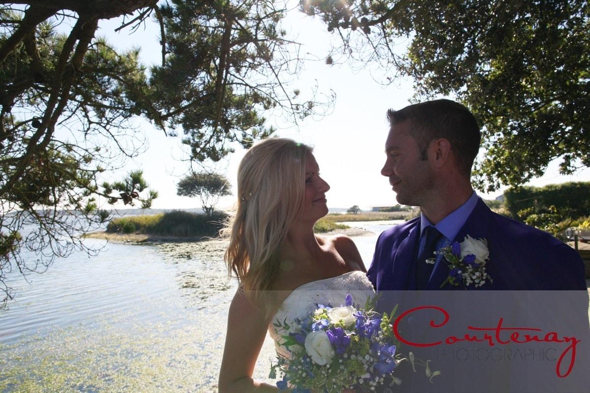 newlyweds enjoy quiet moment