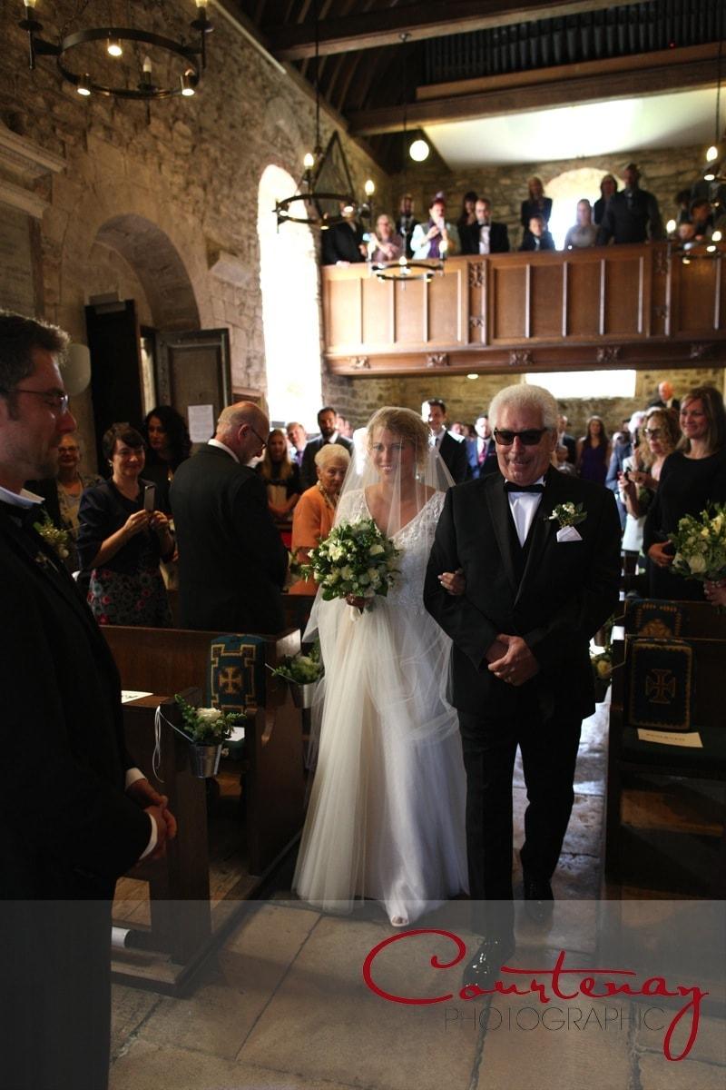 dad walks daughter down the aisle St Nicholas Pig on the Beach wedding