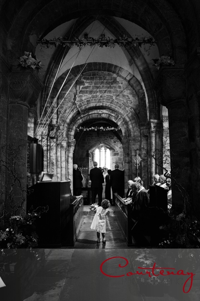 small child in the church aisle
