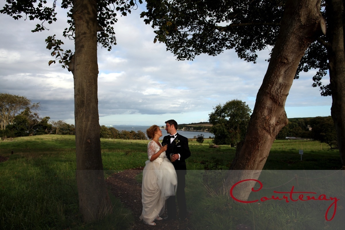 bride and groom enjoy a quiet moment