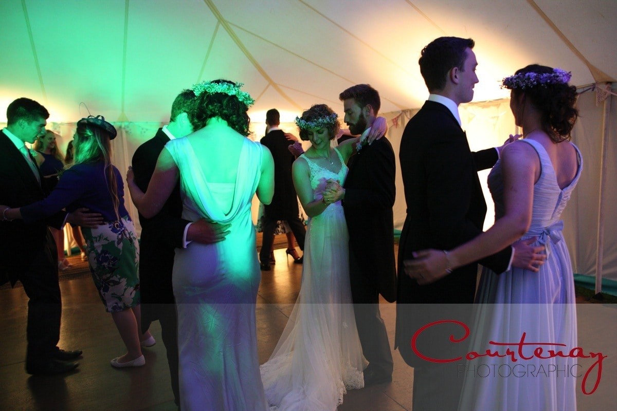 couple are joined on the dance floor