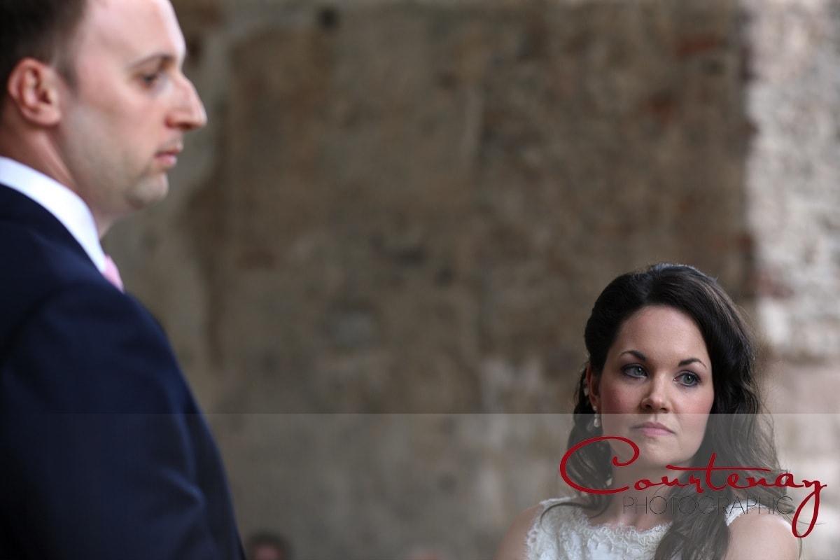 couple take wedding vows