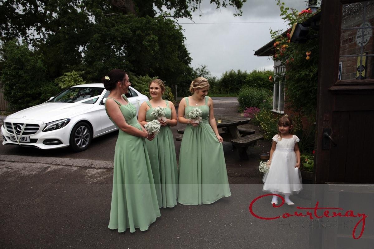 bridesmaids wait for bride