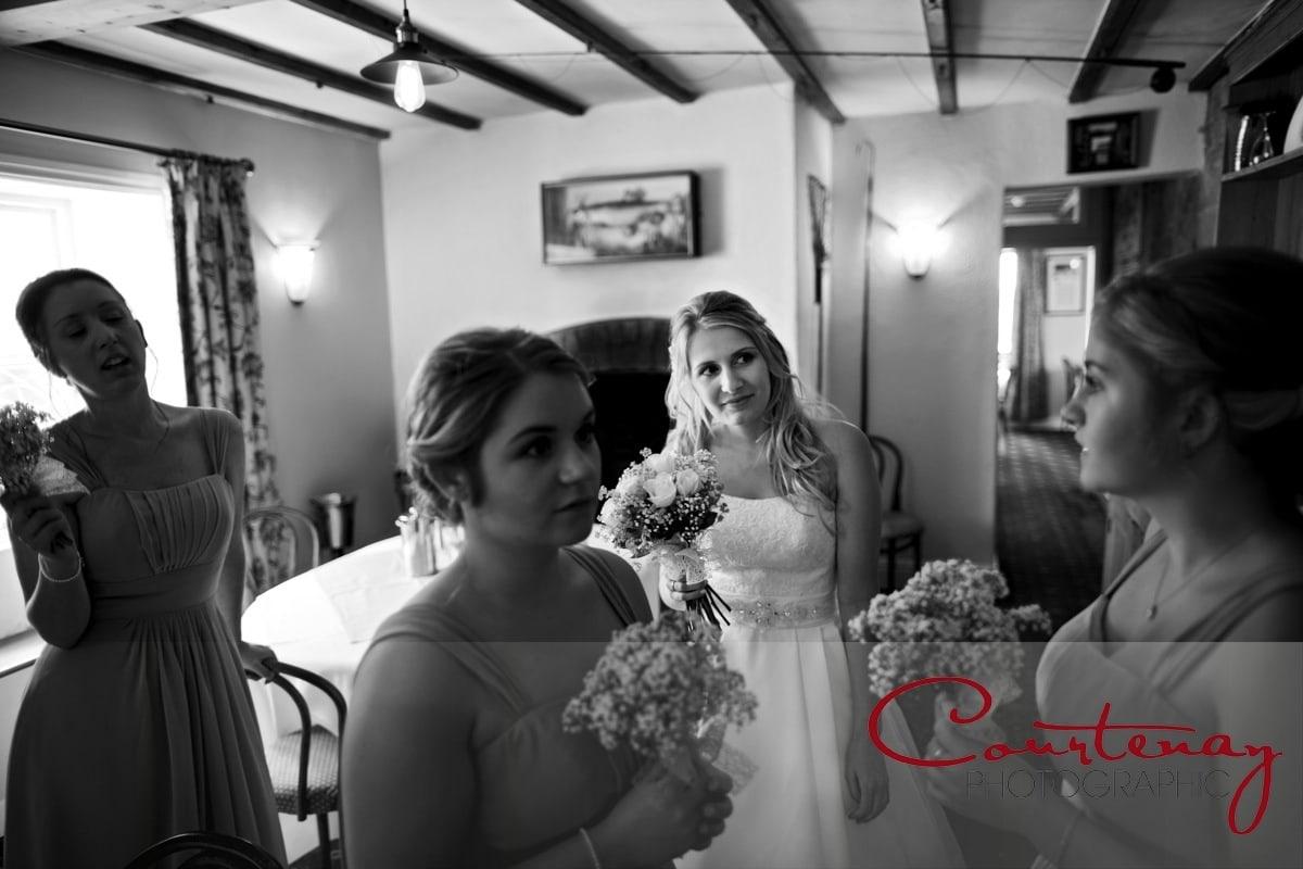 bride prepares for ceremony