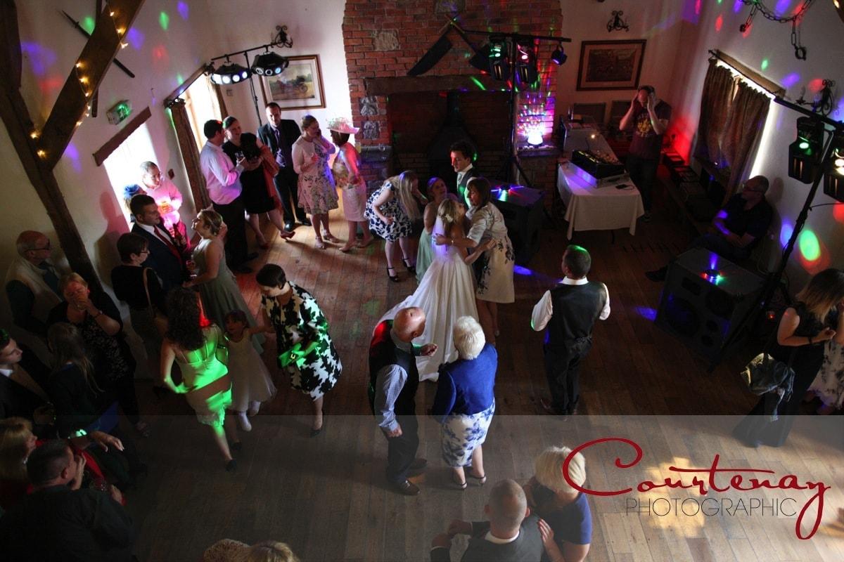 evening wedding reception begins