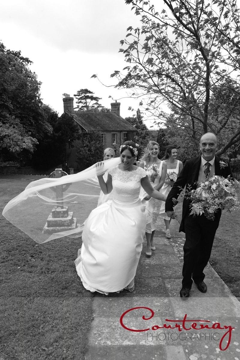 wind catches the brides veil