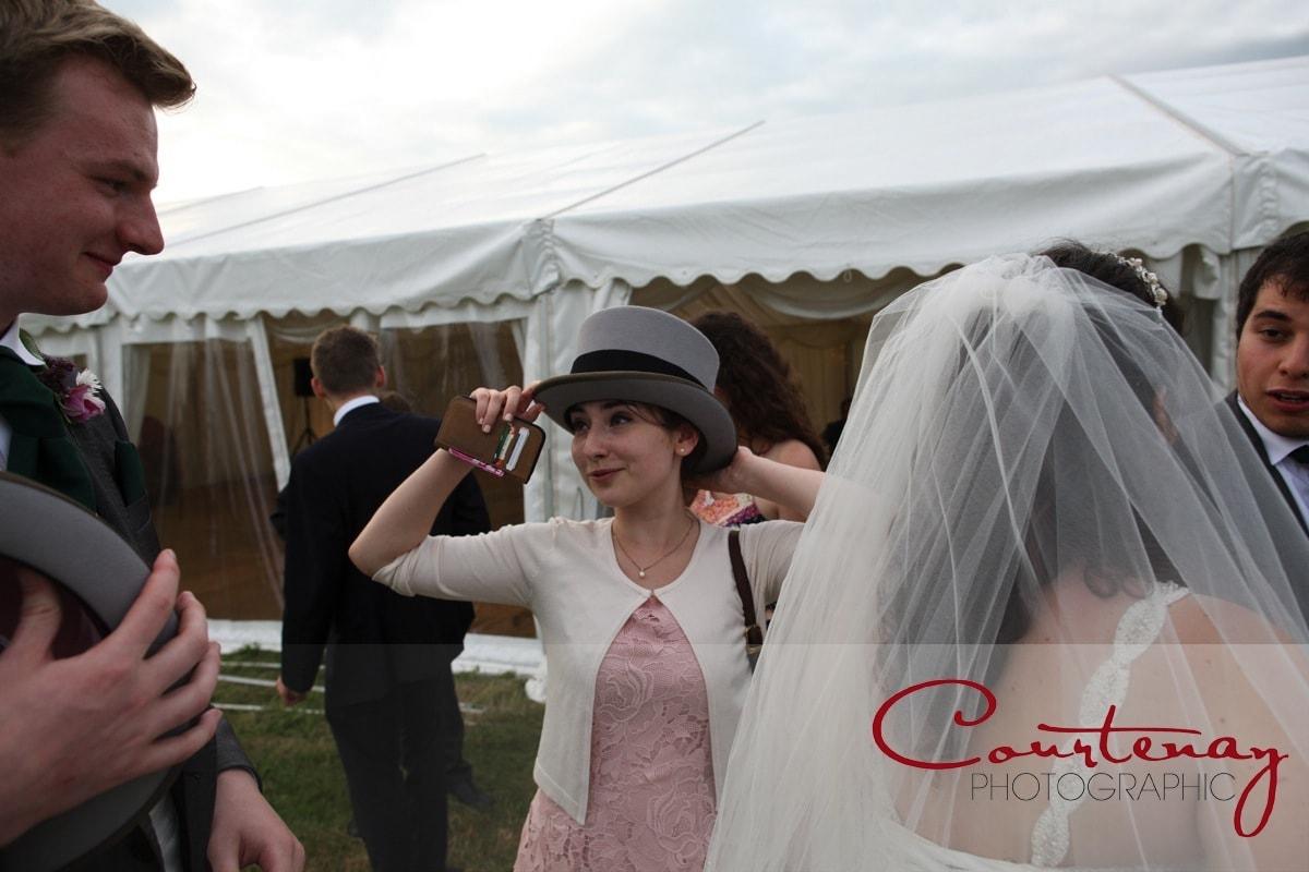 bridesmaid in a top hat