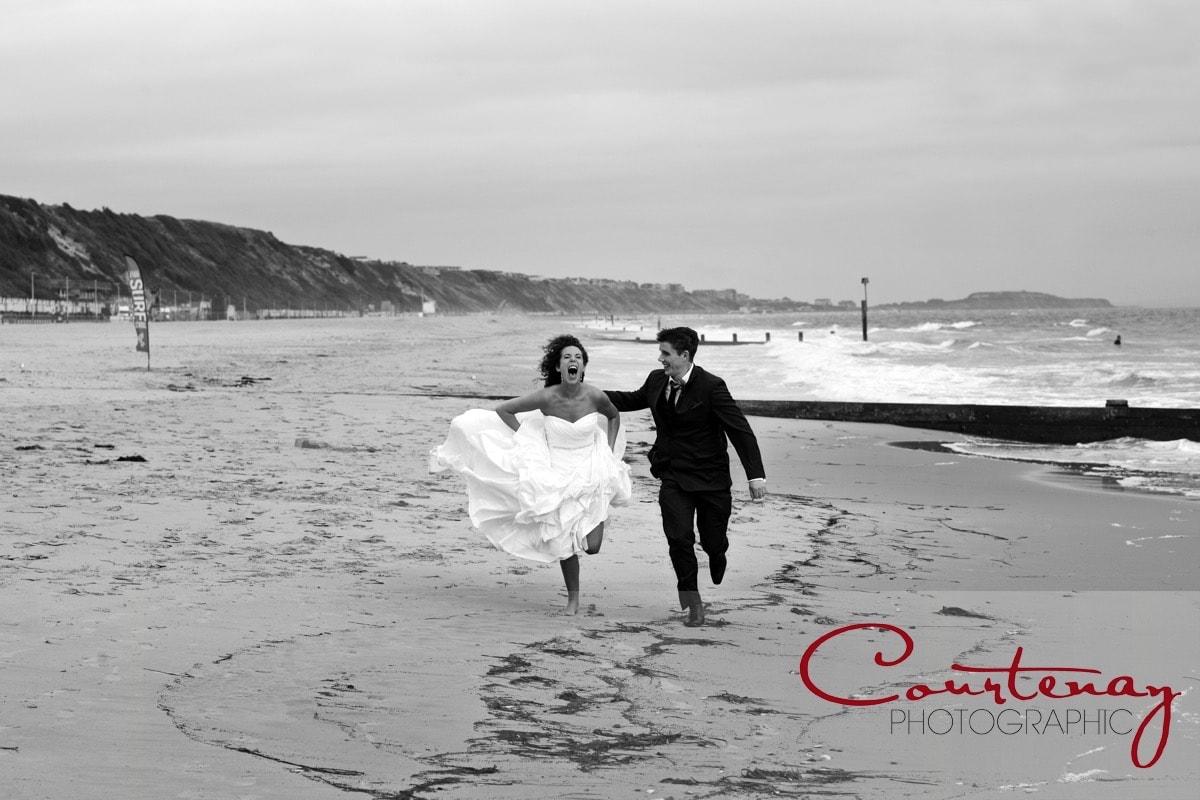 Louise and Kieran's Beach Wedding in Bournemouth