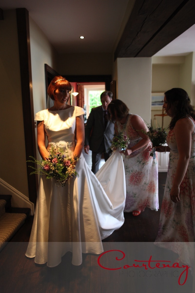 bride prepares to enter ceremony