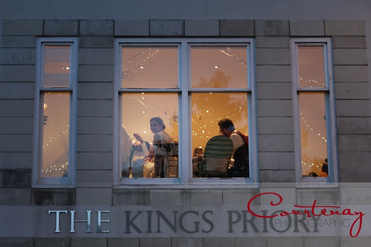 wedding reception at the kings arms priory