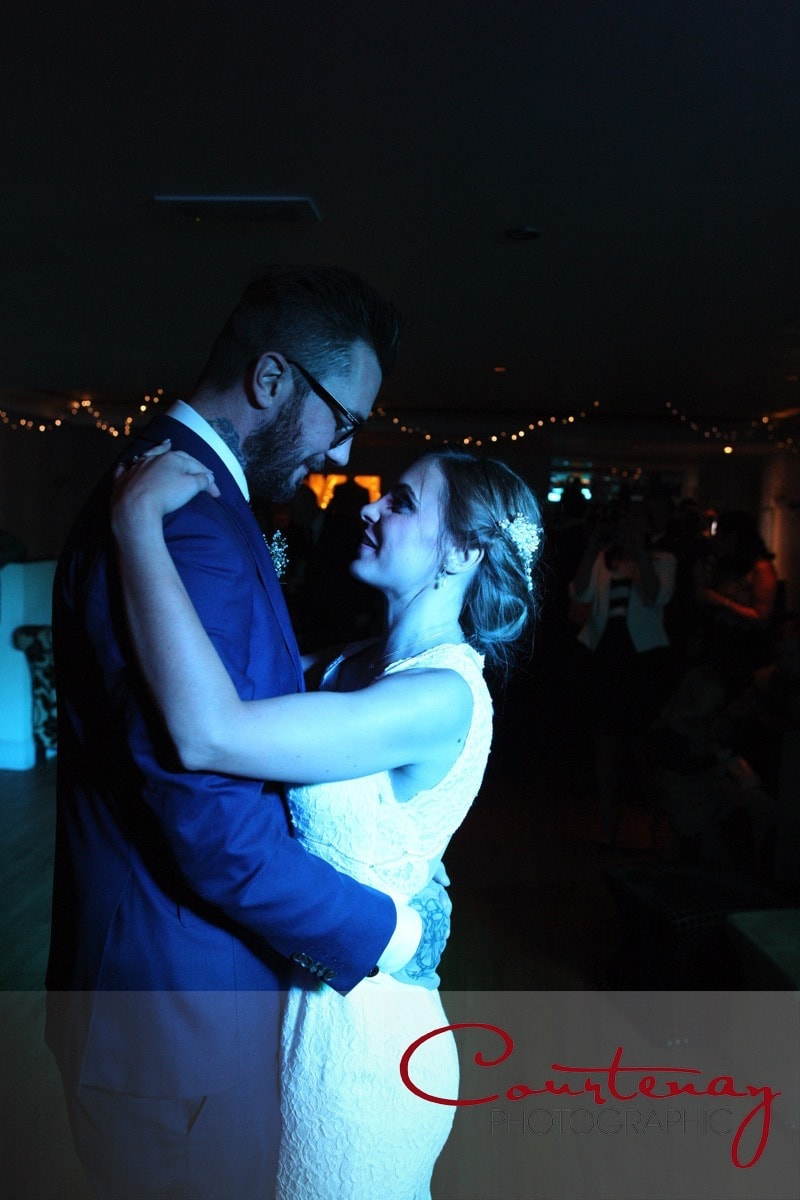 happy couple take first dance
