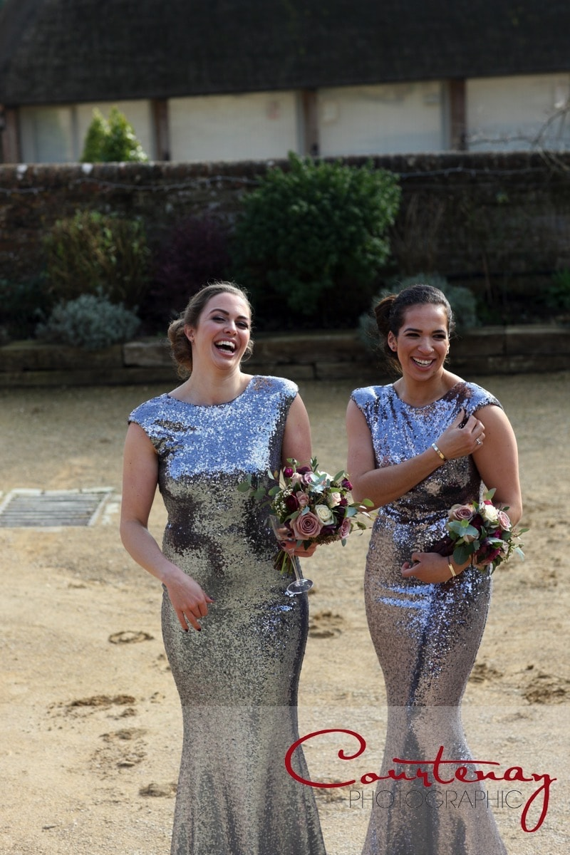 bridesmaids enjoy the spectacle