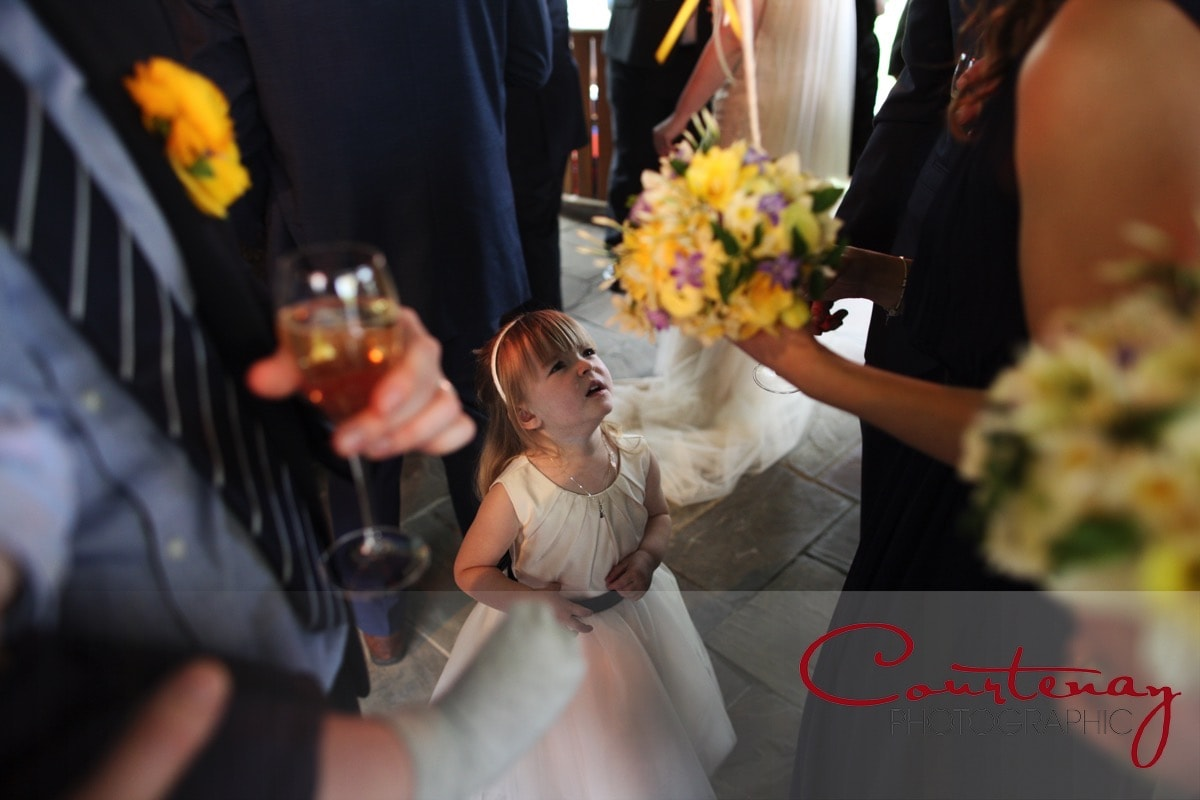 young bridesmaid keen to know whats going on