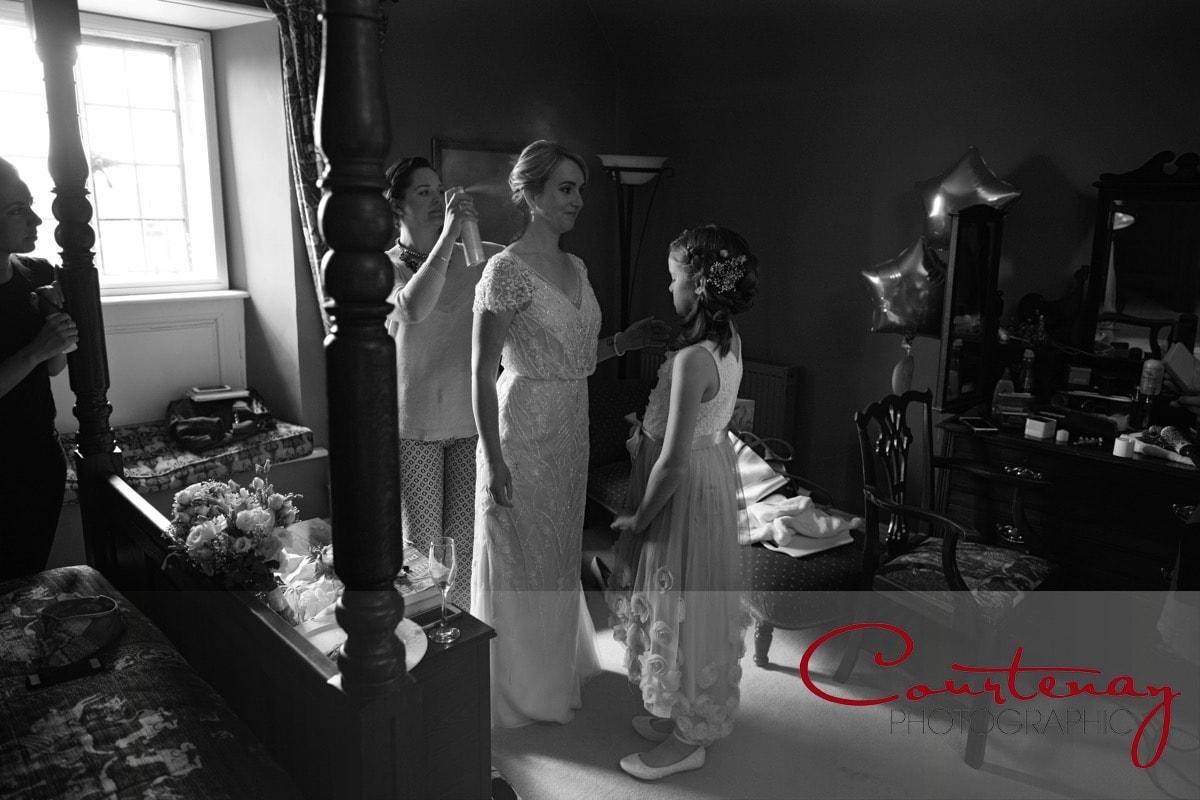 bride prepares for Mortons House Wedding