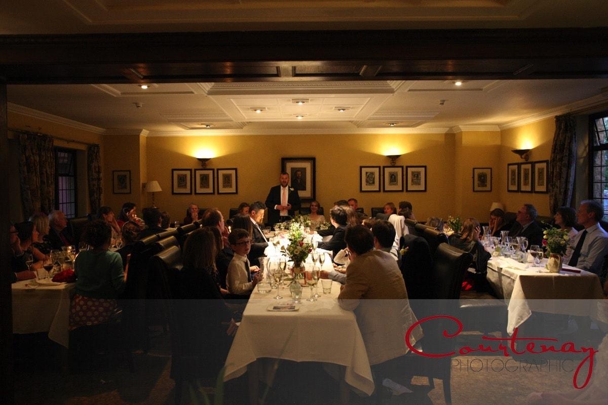 grooms speech at reecption Mortons House Wedding