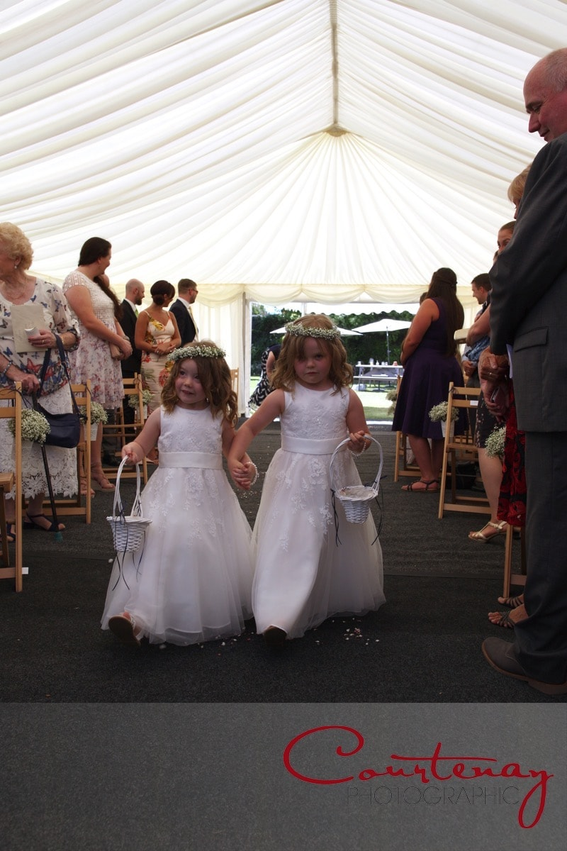 flower girls take their role seriously