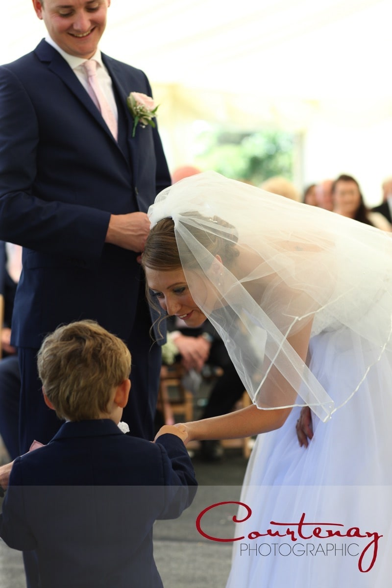page boy does his duty as ringbearer