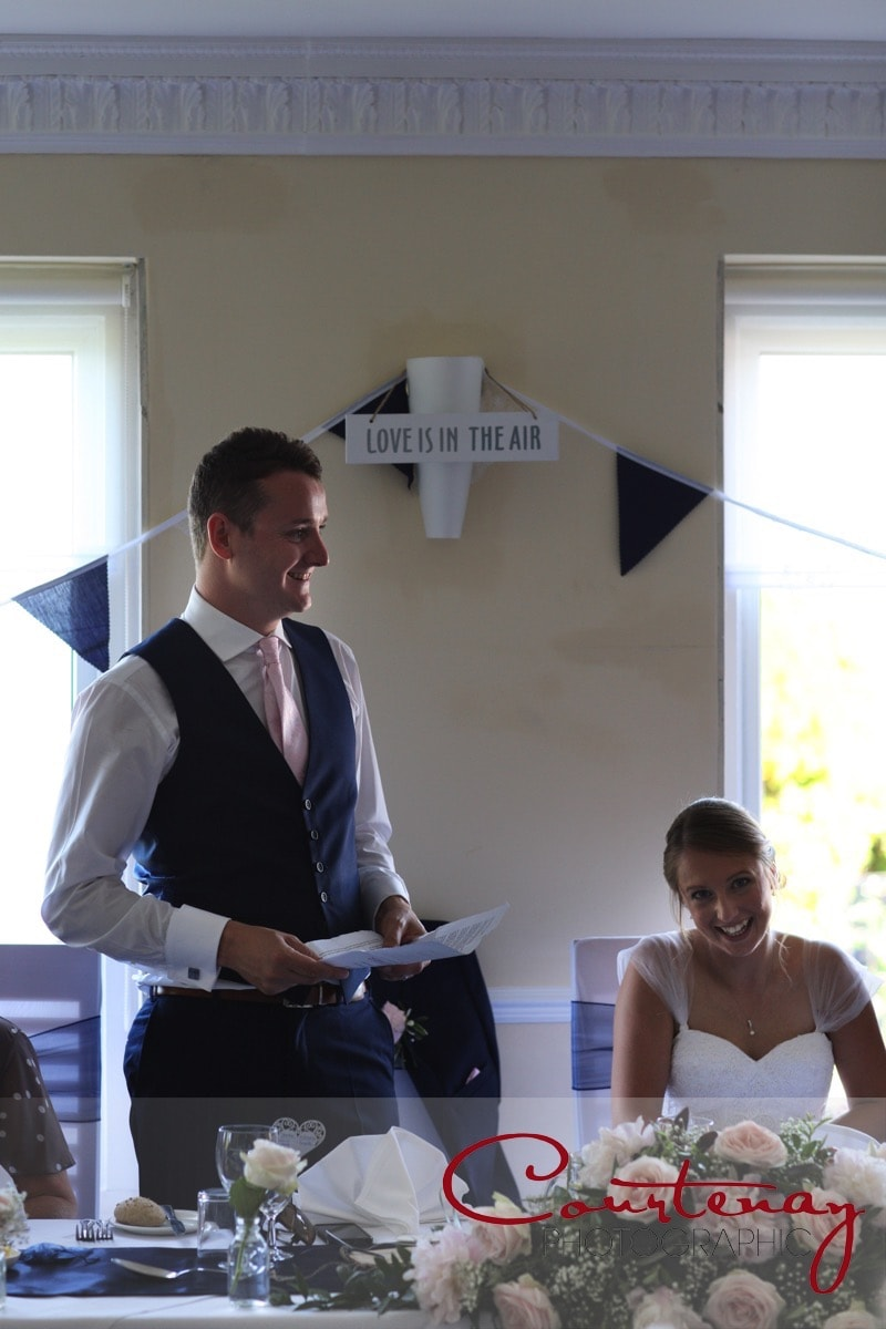 groom makes a speech