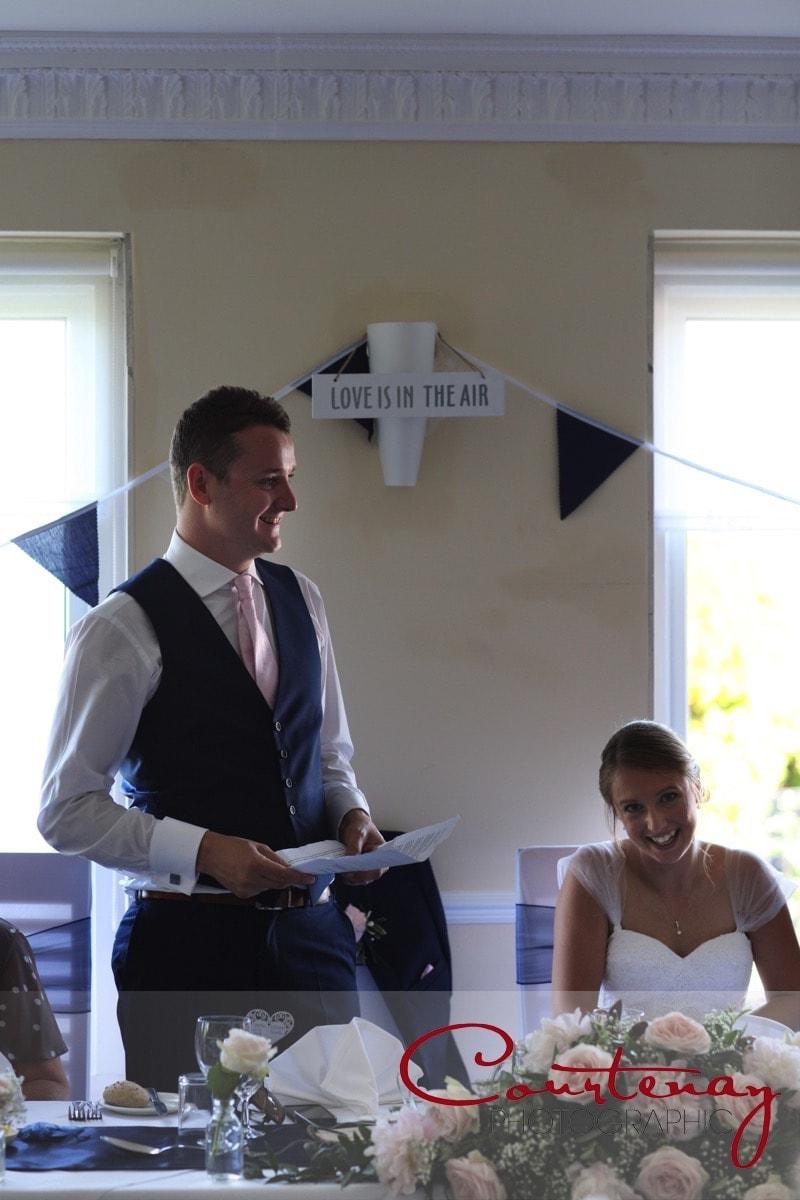 groom makes a speech