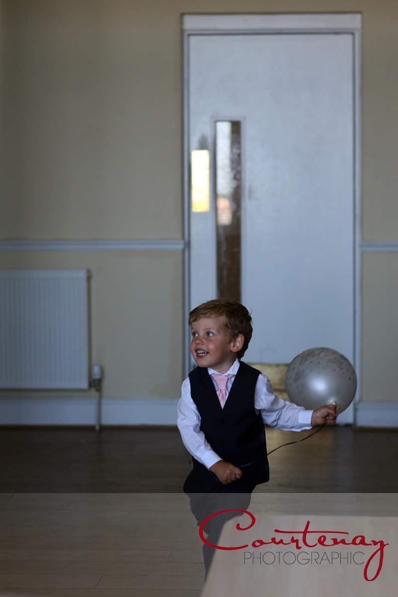 page boy and his treasured balloon
