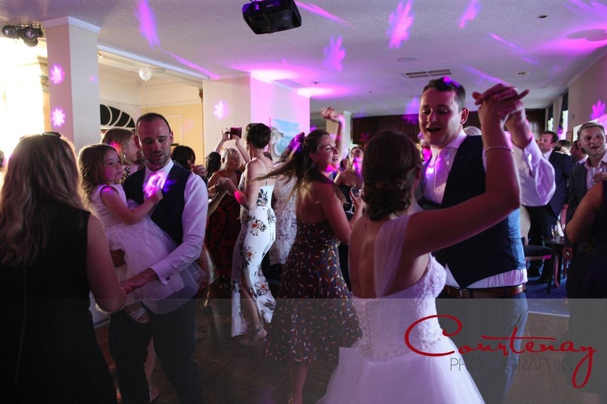 a full dance floor