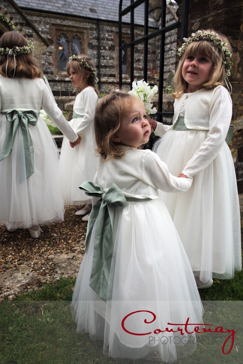 small bridesmaids wait patiently