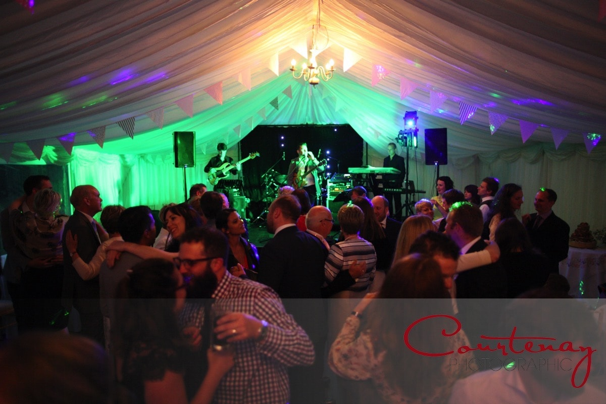 a packed dancefloor to the sound of the band