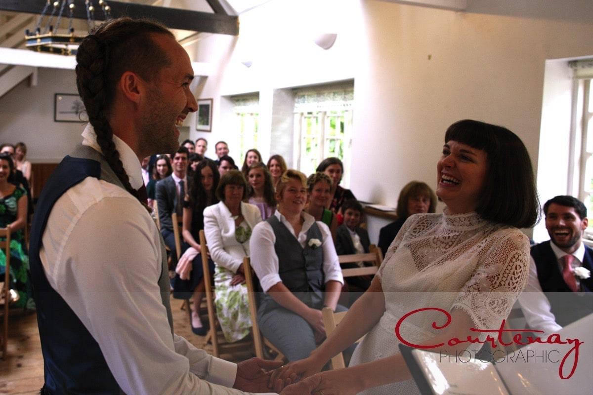 wedding vows at Springhead Trust Wedding