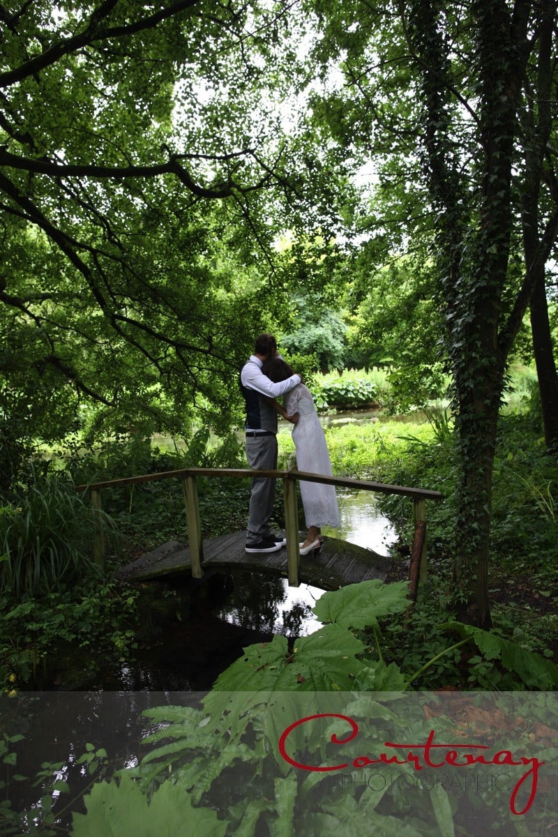 in the woods at Springhead Trust Wedding