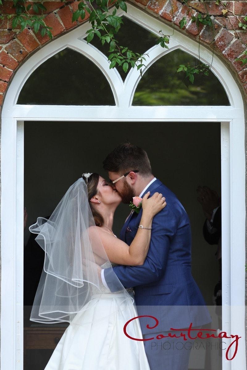 first kiss  Plush Manor wedding