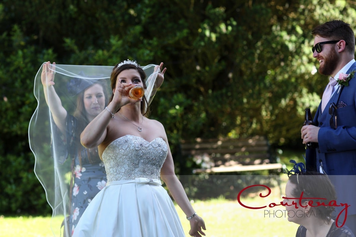 bride and a bottle of corona