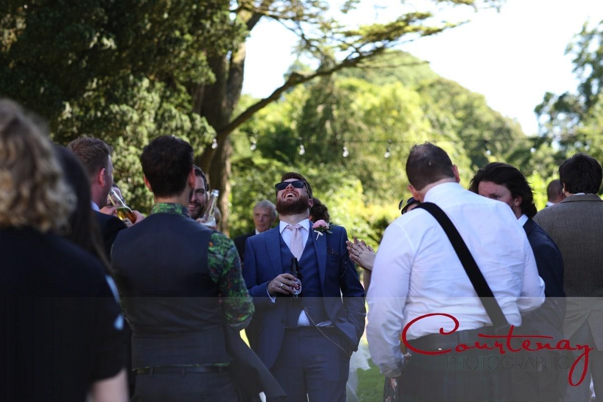 groom enjoys a good joke