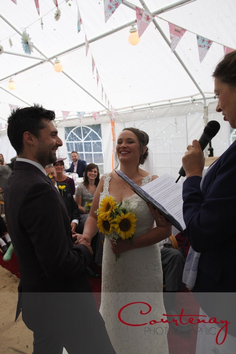 ceremony in the marquee