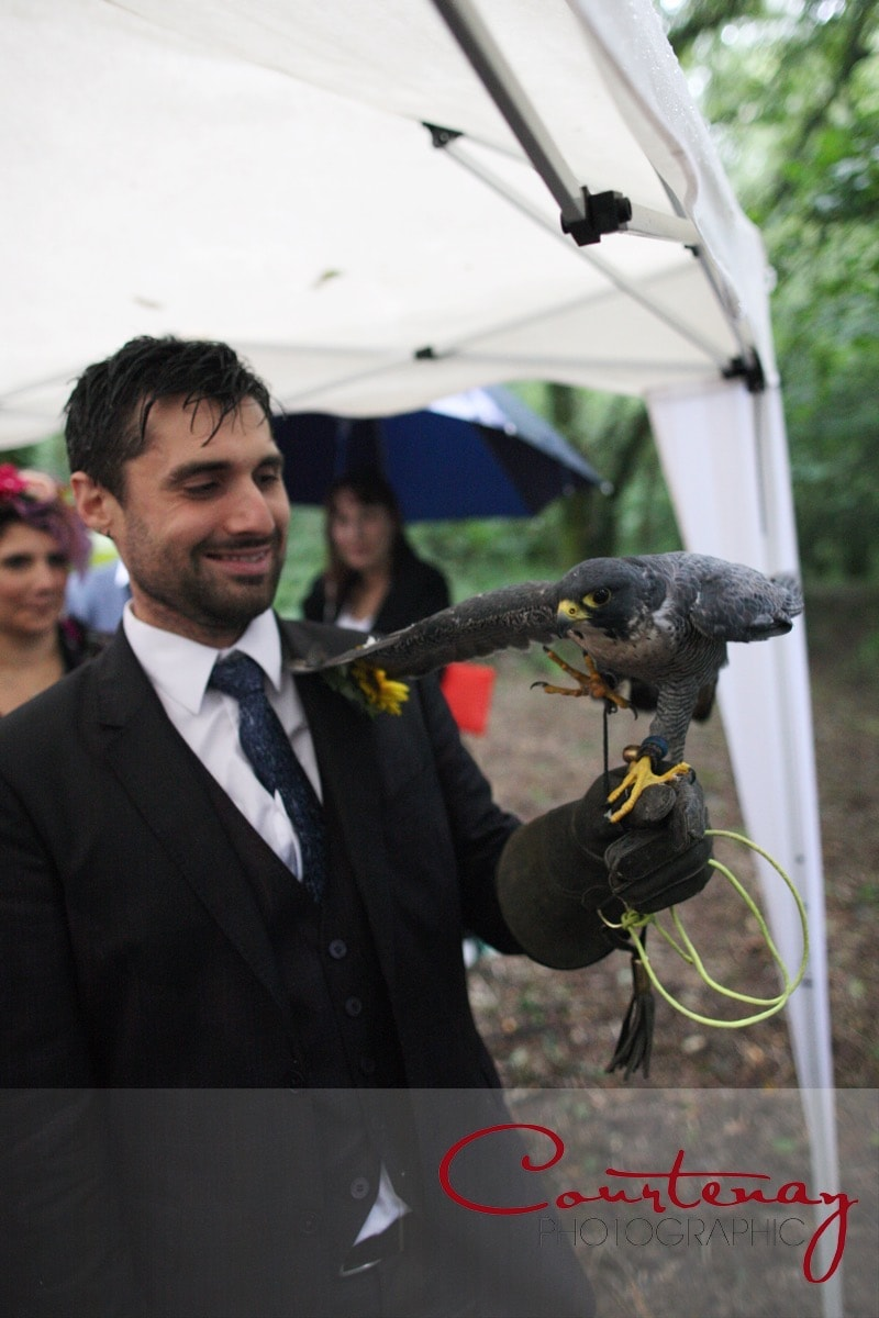 groom and another bird