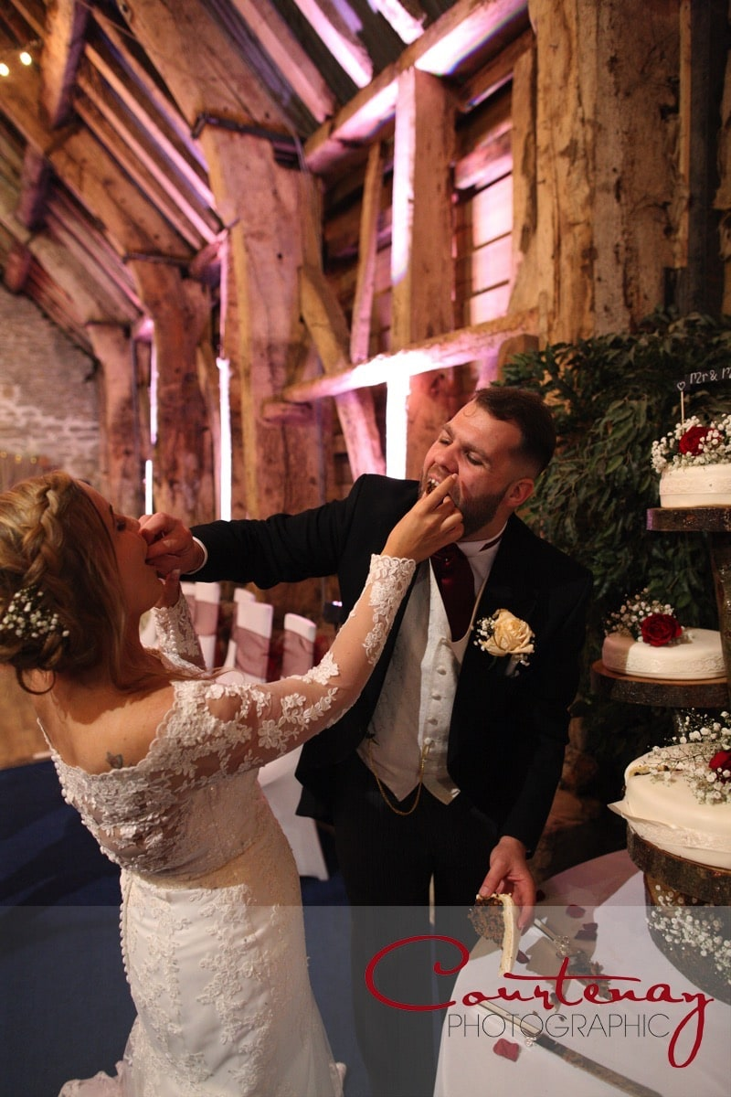 feeding wedding cake