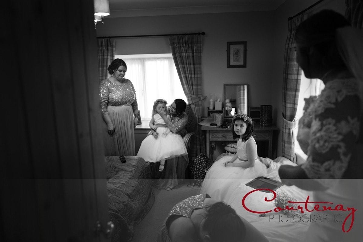 bridesmaids waiting