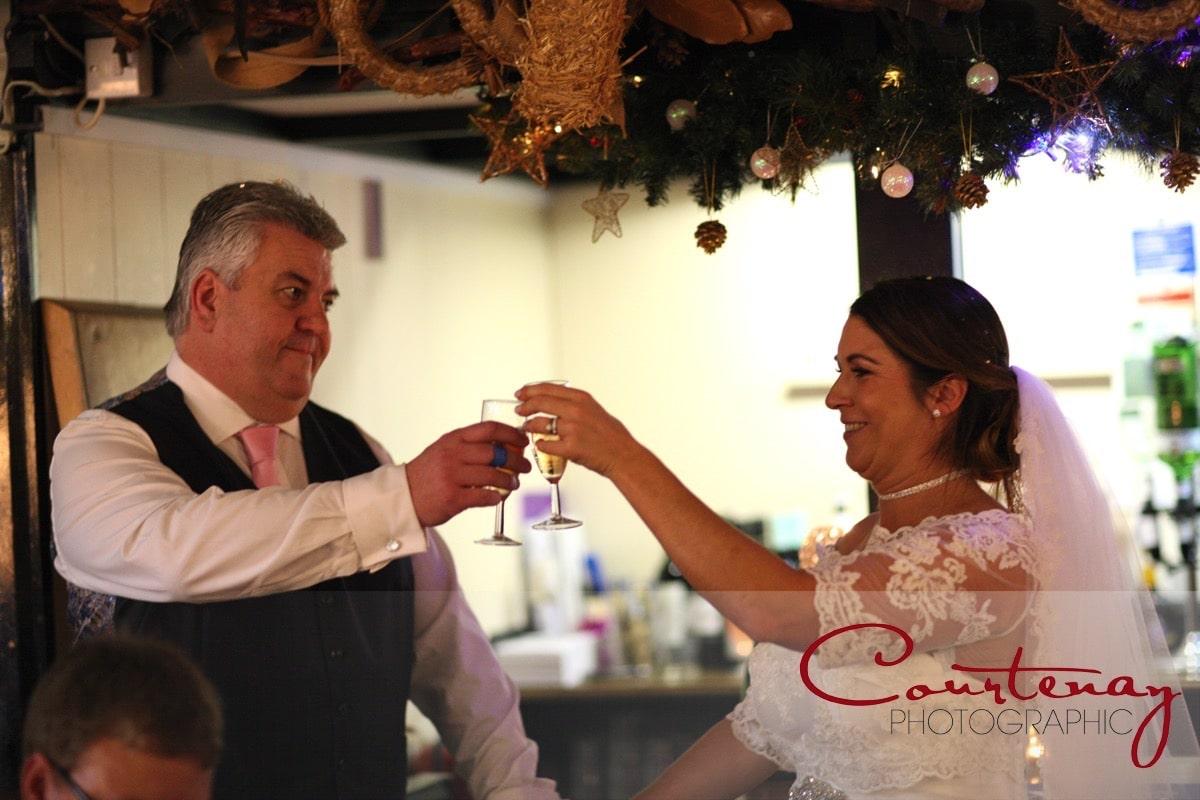 toast the happy couple