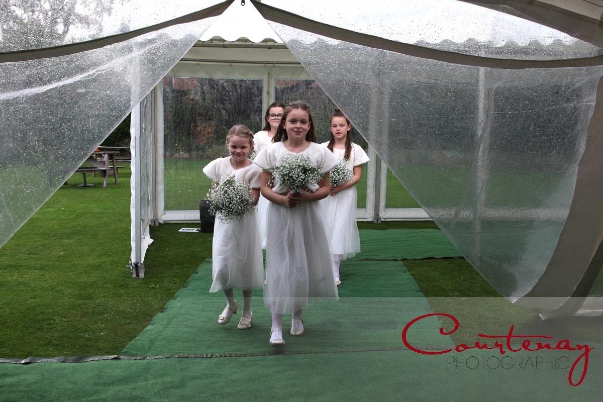 bridesmaids enter