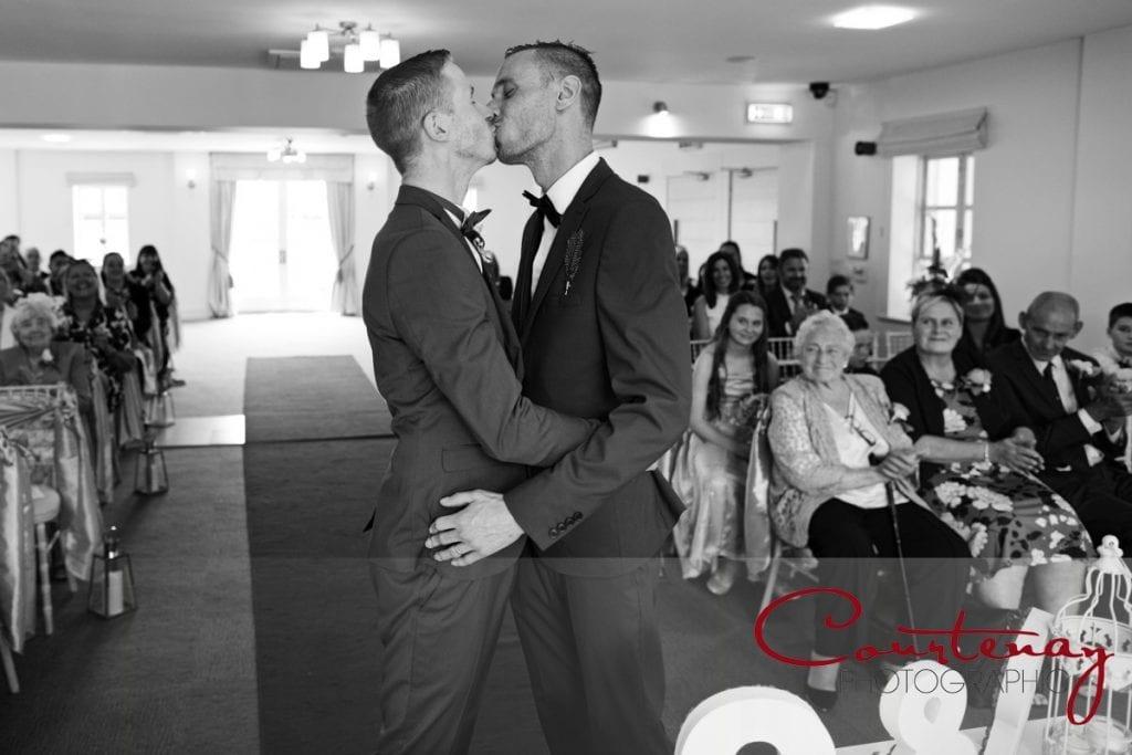 Gay Wedding kiss
