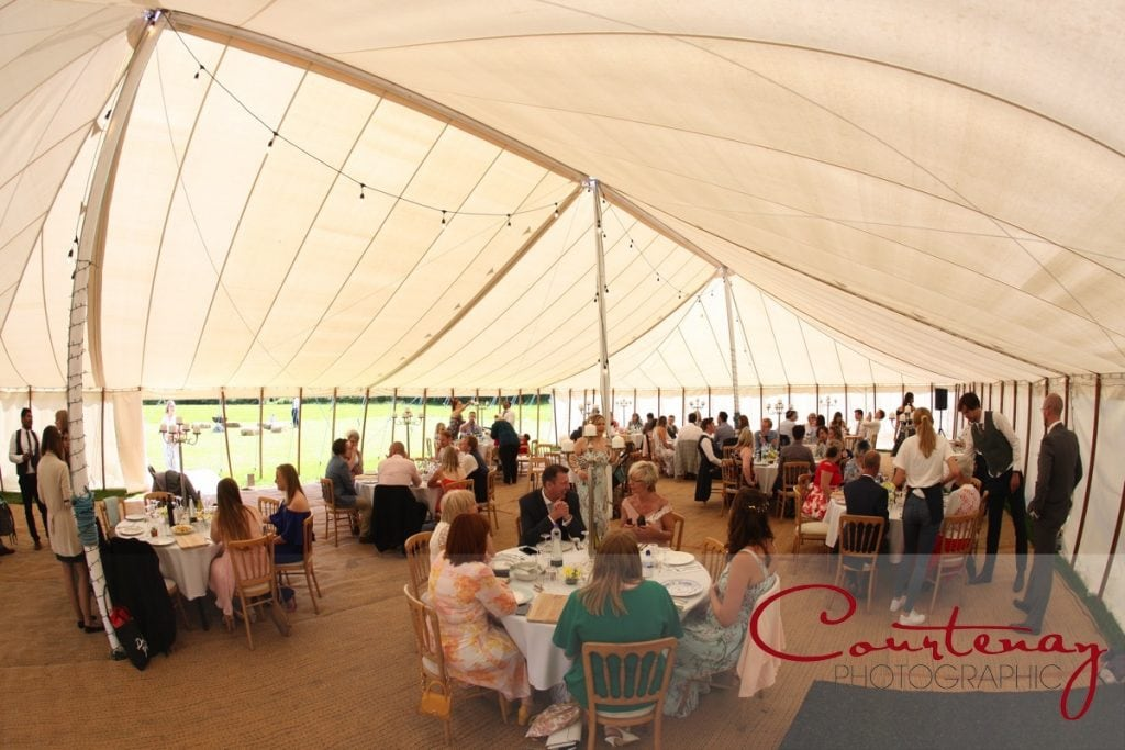 Hayhouse Farm wedding inside marquee